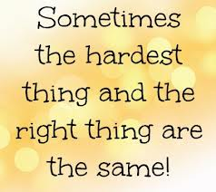 hard and right