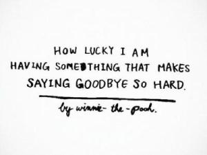 goodbye is hard