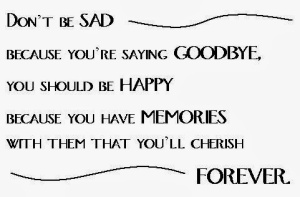 goodbye memories